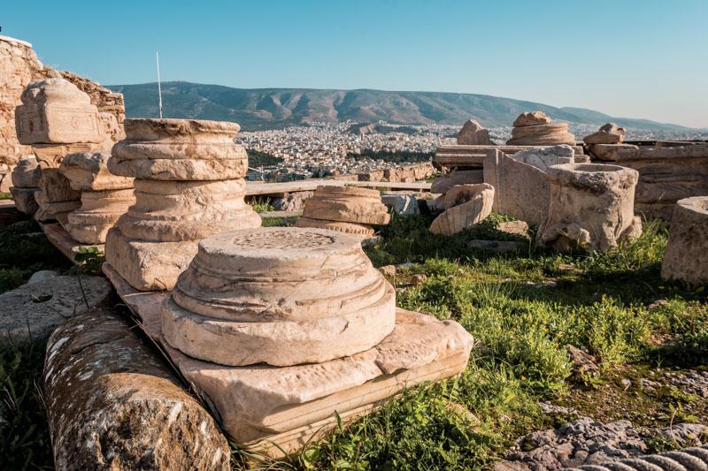 Perserschutt Akropolis Athen Antike Stätte Griechenland