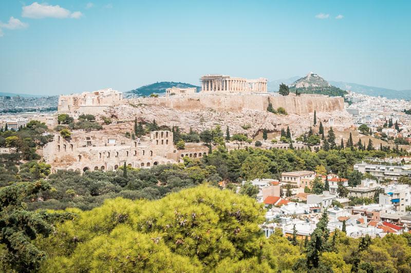 Philopappos Berg Akropolis Panorama