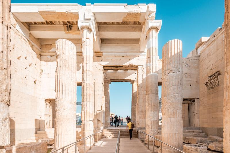 Propyläen Eingang Akropolis Öffnungszeiten
