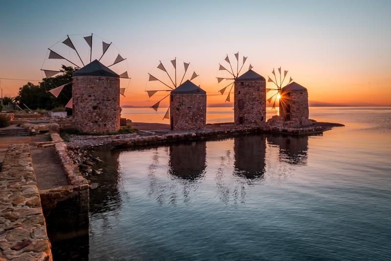 chios griechenland windmühlen