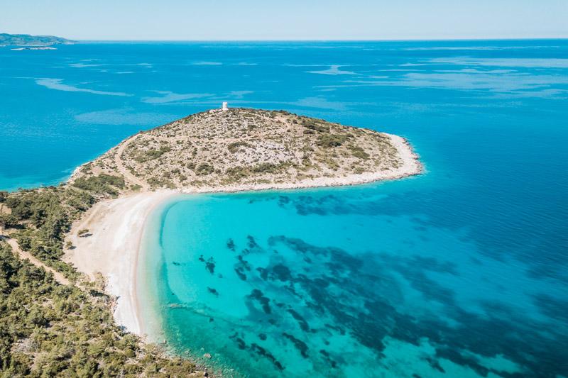 chios strände trachili beach