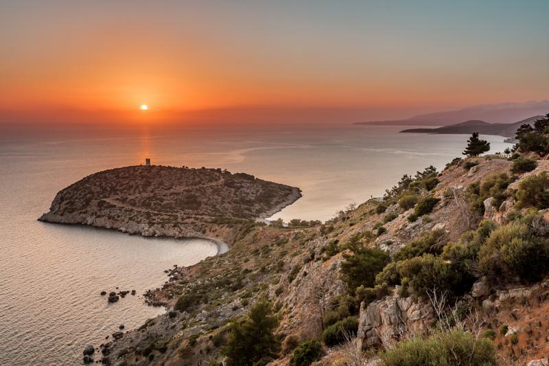 griechenland geheimtipp insel chios sonnenuntergang