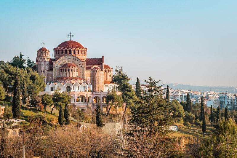 agios pavlos thessaloniki apostel paulus kirche