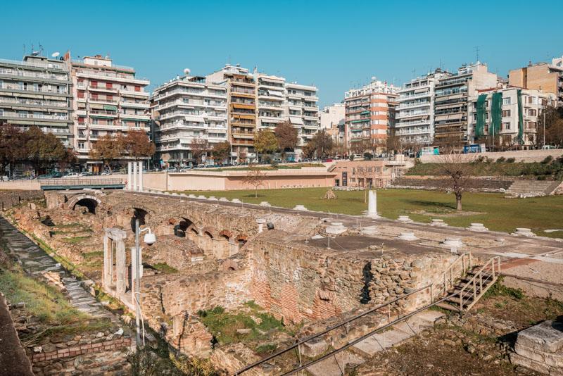 römische agora forum romanum thessaloniki