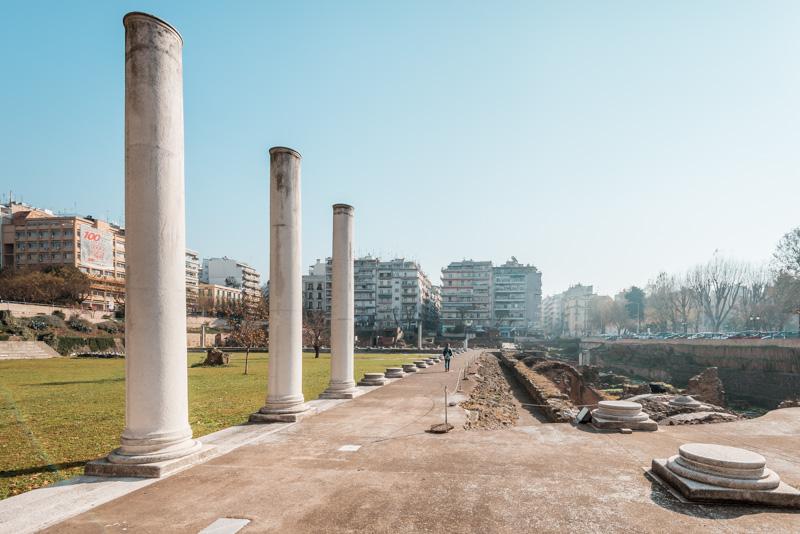 thessaloniki agora forum romanum
