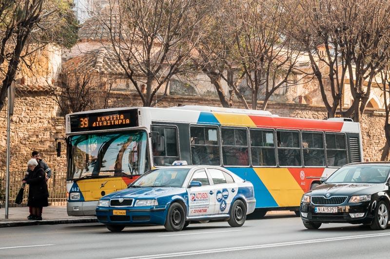 thessaloniki bus taxi fortbewegung