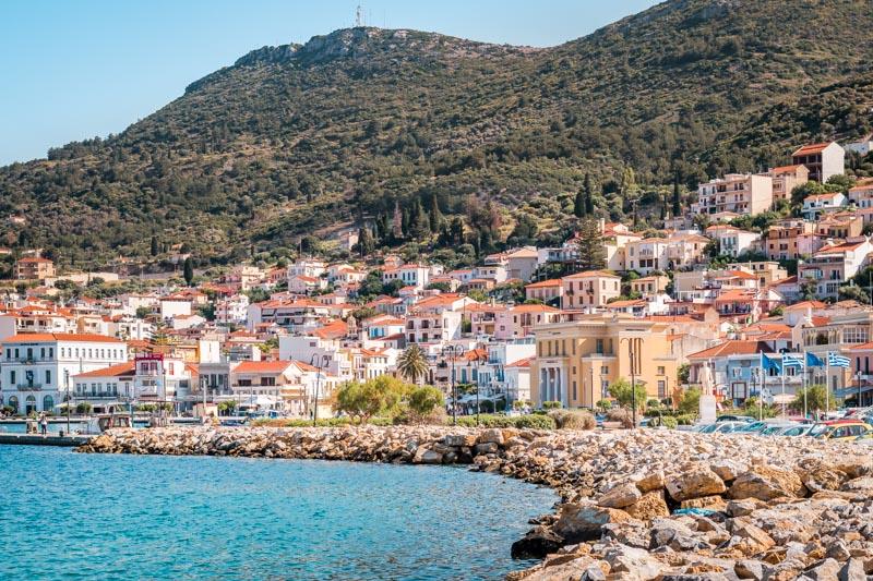 Samos Vathy Stadt Fährverbindung Griechenland
