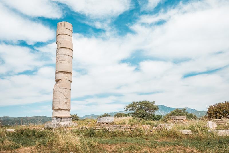 heraion samos hera tempel kolona