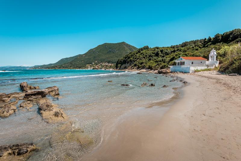 Korfu Straende agios nikolaos paramonas beach
