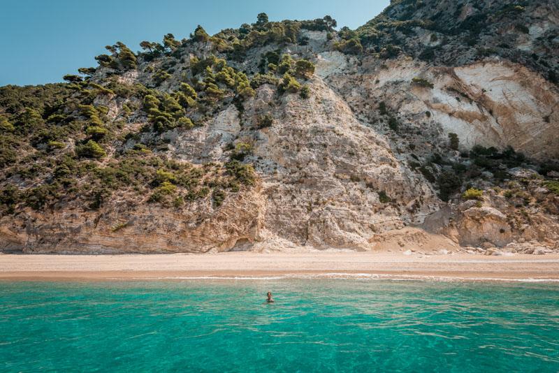 stelari beach korfu motorboot