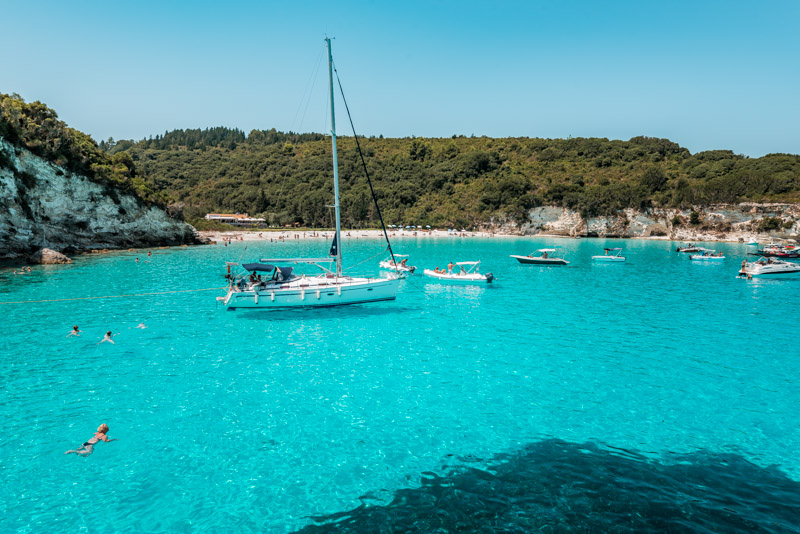 voutomi beach antipaxos