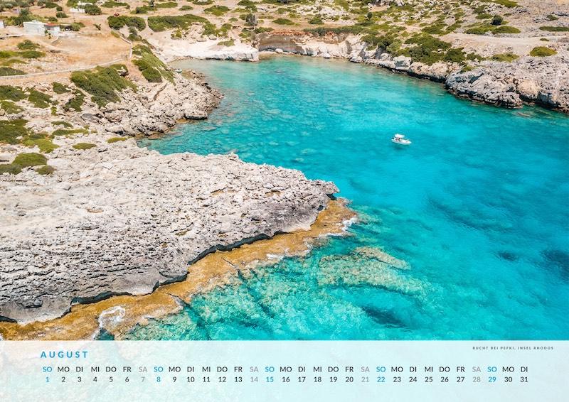Griechenland Kalender Wandkalender Geschenk Idee
