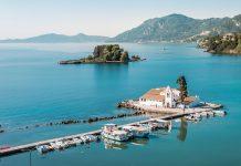 Korfu Urlaub Griechenland Sehenswuerdigkeiten Kloster Vlacherna