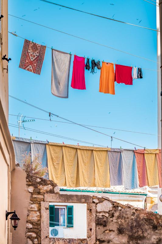 Highlights Korfu Stadt Waesche Haeuser