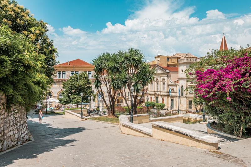 Insel Korfu Tipps Kerkyra Stadt Rathaus Platz