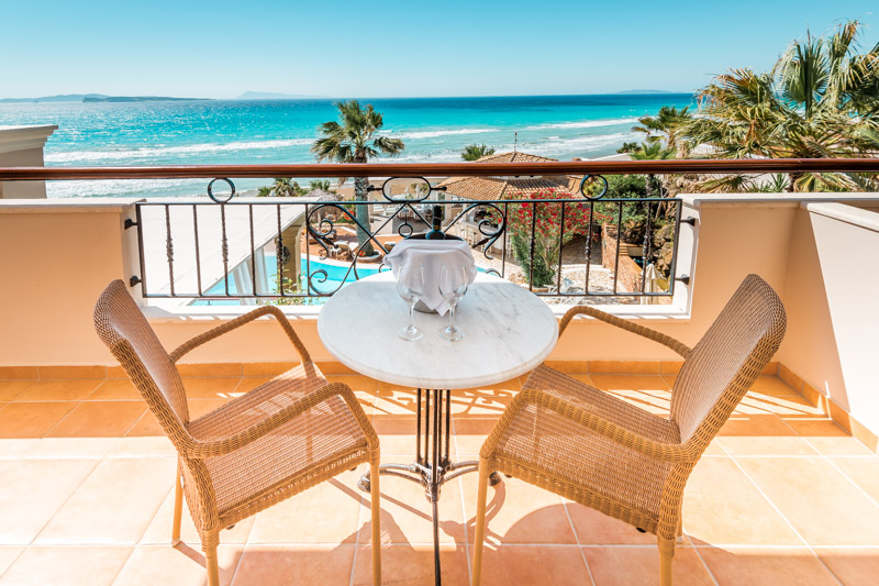 Korfu Hotels Empfehlung Urlaub Strand Delfino Blu