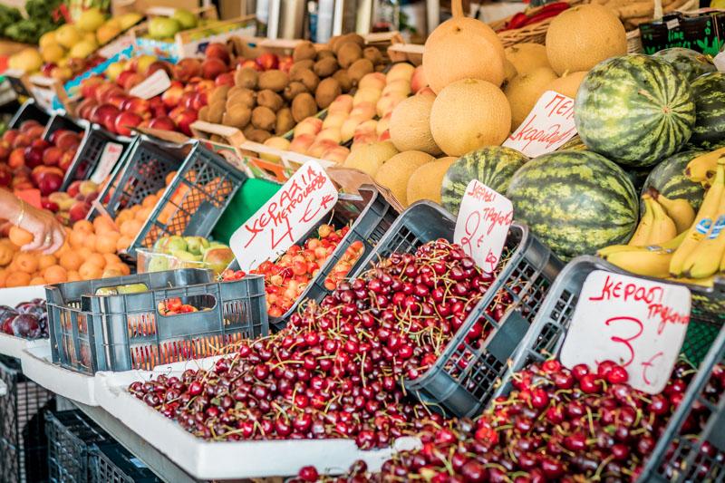 Korfu Wochenmarkt Oeffnungszeiten Einkaufen Obst Gemuese