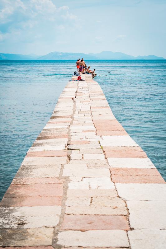 Mon Repos Korfu Stadt Strand