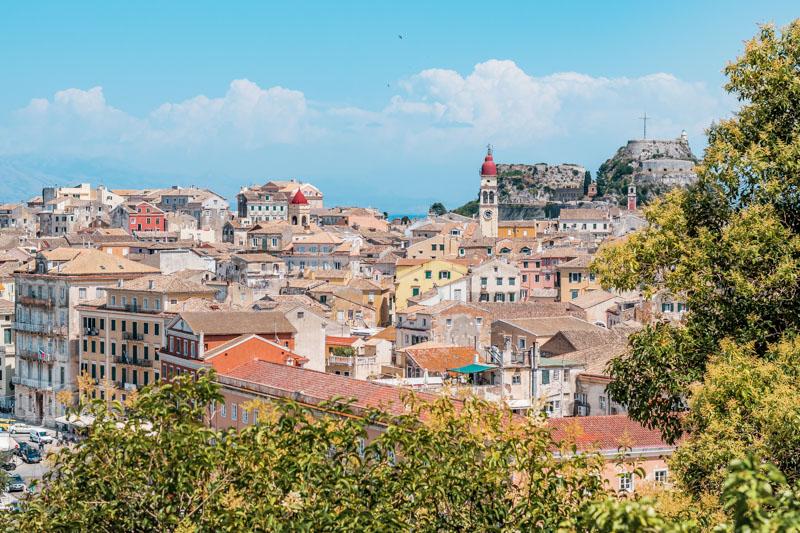Panorama Korfu Altstadt Neue Venetianische Festung