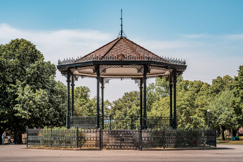 Spianada Pavillon Korfu Stadt Park Garten