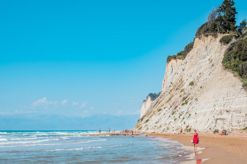 Straende Korfu Agios Stefanos Beach