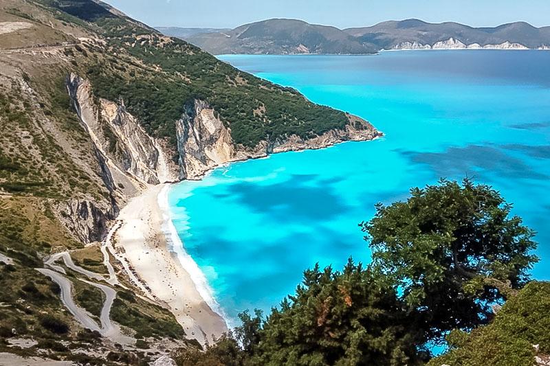 myrtos beach kefalonia straende