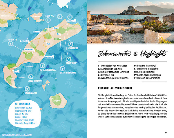 Inselhopping Reisefuehrer Dodekanes Inseln Griechenland Kos