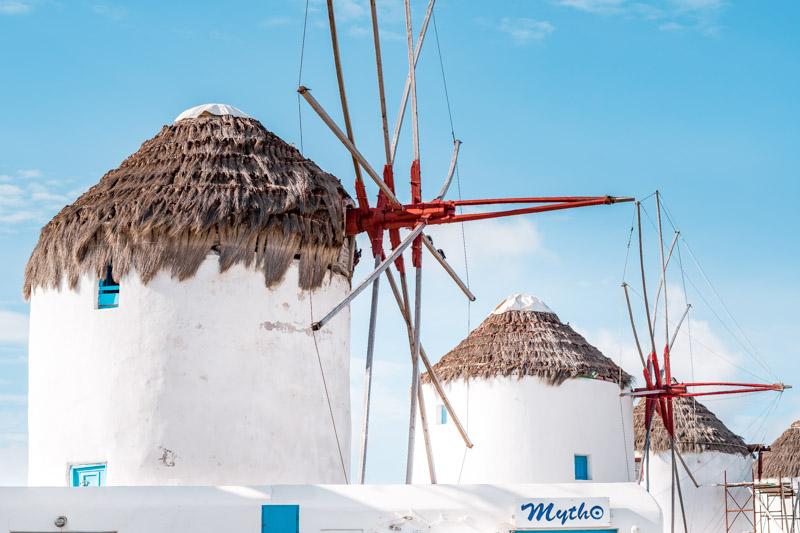 Mykonos Windmuehlen Griechenland Wahrzeichen