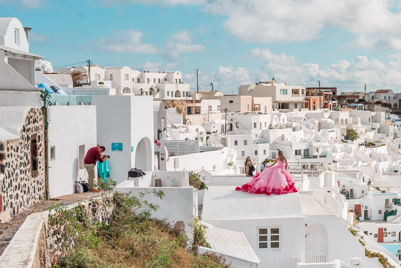 Santorini Fotografen Fotoshooting Flitterwochen
