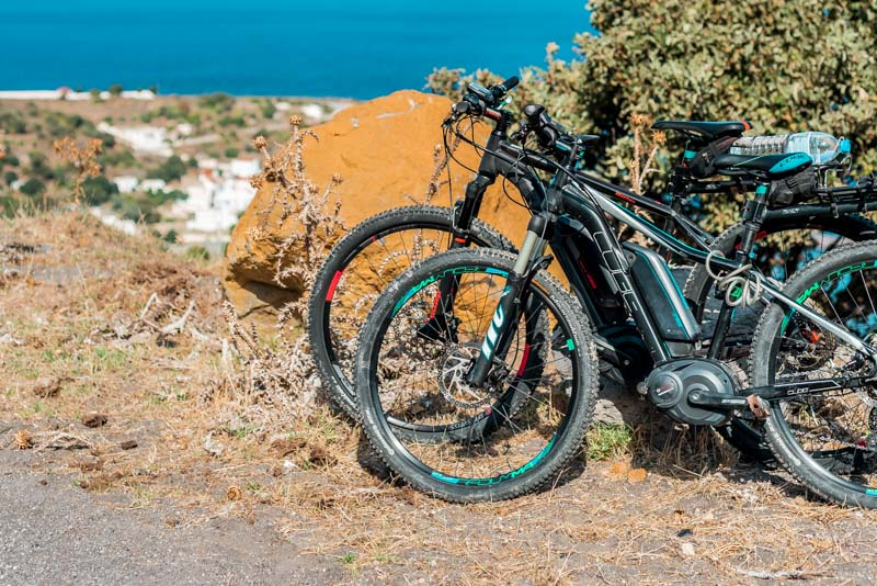 Santorni E Bike Tour Griechenland Fahrrad