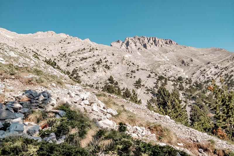 Griechenland Gebirge Olympos Nationalpark Hochalpines Gelaende