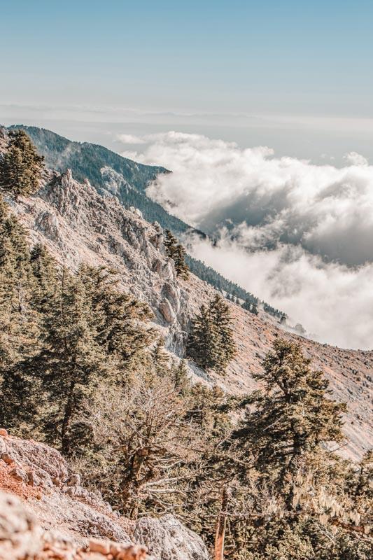 Griechenland Wandern Gebirge Olympos Wolkenmeer