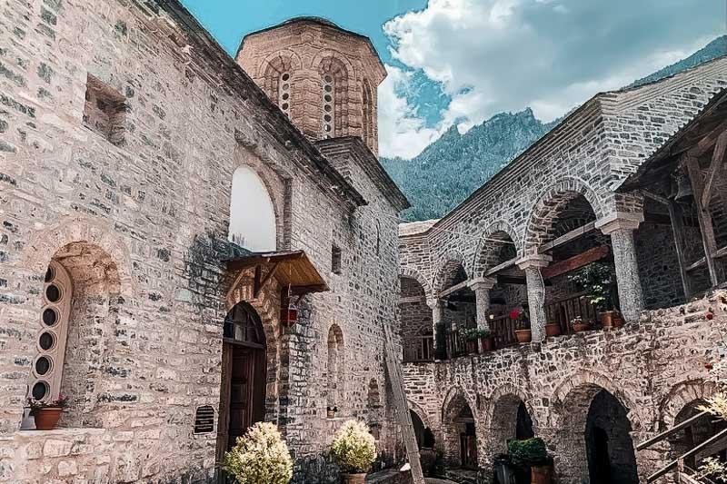 Kloster Agios Dionysios Litochorio Makedonien