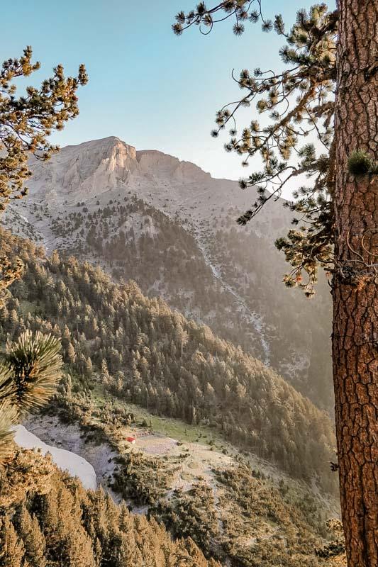 Olymp Griechenland Wanderung Blick ins Tal